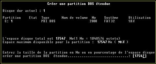 Partition dos