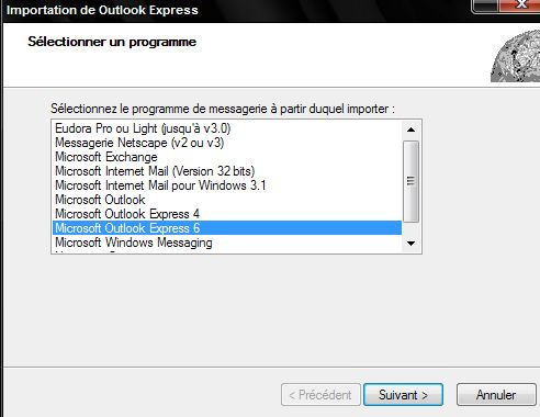 sauvegarde messages windows mail